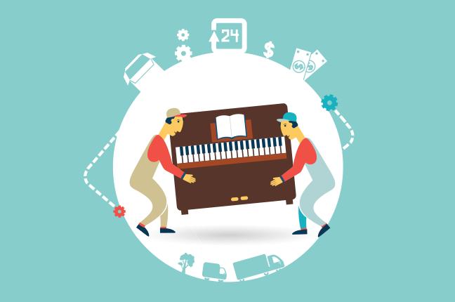 Guarda tu piano en TKB Alquiler de trasteros